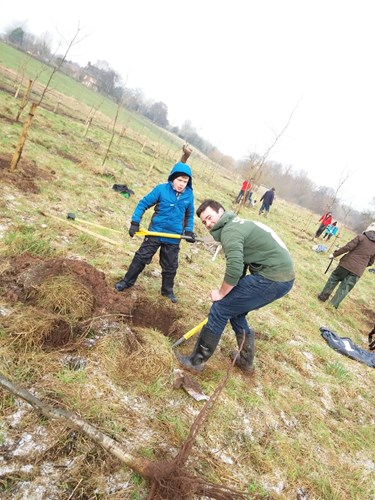 Tree planting in January